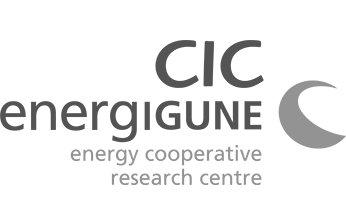 Logo CIC energiGUNE. Clientes de NorArte - Visual Science