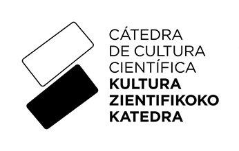 logo de la CÁTEDRA DE CULTURA CIENTÍFICA, UPV/EHU. Clientes de NorArte - Visual Science