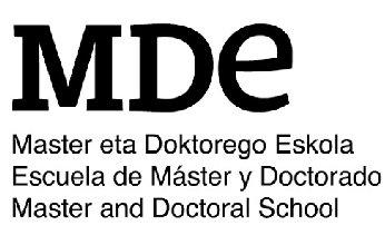 logo de ESCUELA DE MÁSTER Y DOCTORADO, UPV/EHU. Clientes de NorArte - Visual Science