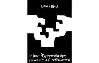 logo de cursos de verano/udako ikastaroak, UPV/EHU. Clientes de NorArte - Visual Scienceuda ikastaroak