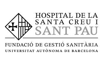 Logo hospital de Santa Creu y Sant Pau
